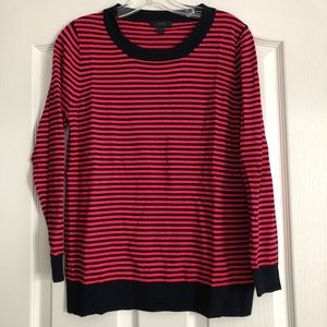 J Crew Tippi Sweater in Navy and Red Size Medium